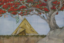 Camping  beneath the Pohutukawa Tree